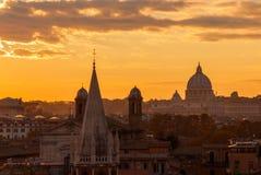 Rome sunset skyline royalty free stock photo