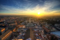 Rome Sunset Vatican Stock Images