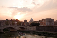 Rome on sunset Royalty Free Stock Image
