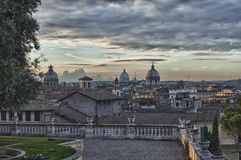 Rome sunset view Royalty Free Stock Images