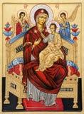 Rome - symbol av jungfruliga Mary från angeli för basilikaSanta Maria degli Royaltyfri Bild
