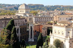 Rome: the Synagogue and the Theatre of Marcellus Stock Photo