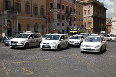 Rome taxi Stock Image