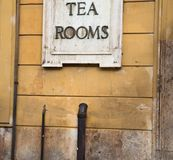 Tea Room In Rome Wall stock images