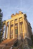 Rome tempel av Antoninus och Faustina 03 Royaltyfri Fotografi