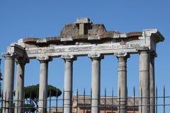 Rome, Tempel van Saturn Royalty-vrije Stock Afbeeldingen