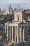 Rome Temple of Antoninus and Faustina 02 Stock Photo