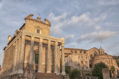 Rome Temple of Antoninus and Faustina 04 Stock Images