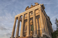 Rome Temple of Antoninus and Faustina 01 Stock Photography