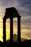 Rome Temple of Castor and Pollux Stock Photos