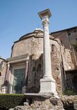 Rome - Temple of Romulus from Forum romanum Stock Images