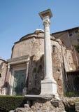 Rome - Temple of Romulus from Forum romanum Stock Images