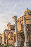Rome Temples of Antoninus and Faustina Royalty Free Stock Photo