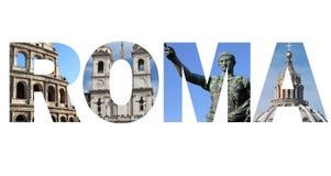 Rome text Royalty Free Stock Photo