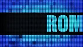 ROME textotent mettre en rouleau le panneau de signe de panneau d'affichage de mur de LED illustration stock