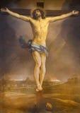 Rome - The Altarpiece Of Crucifixion By Guido Reni (1640) In High Alar Of Church Chiesa Di San Lorenzo In Lucina. Stock Image