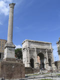 Rome: The Ruins Of The Ancient Roman Forum Stock Photos
