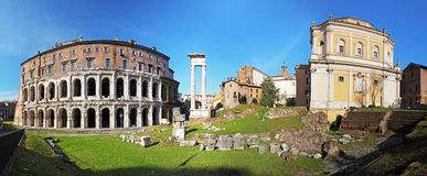 Rome - theatre marcellus, panorama Stock Photography