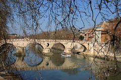 Rome, the Tiber Royalty Free Stock Photo