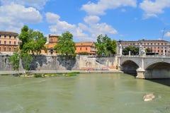Rome. Tiber embankment Stock Photo