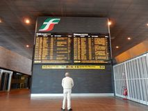 Rome - Timetables in Tiburtina Station Royalty Free Stock Image