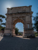 Rome - Titus triumph arch Royalty Free Stock Image