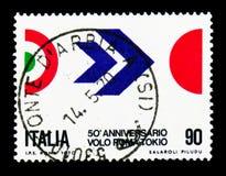 Rome-Tokyo flyg, serie, circa 1970 Arkivfoton