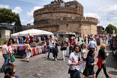 Rome tourists Stock Image
