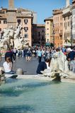 Rome, tourists in piazza Navona Royalty Free Stock Photography
