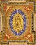 Rome - trätak (1592 - 1594) i kyrkliga Chiesa San Marcello al Corso som planläggs av Carlo Francesco Lambardi Royaltyfri Foto