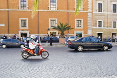 Rome Traffic Stock Photo
