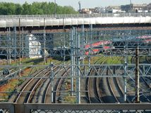 Rome - Train arriving at Tiburtina royalty free stock photos