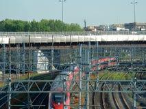 Rome - Train at Tiburtina Stock Photo