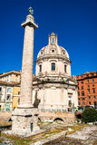 Rome Trajan kolonn i Italien Arkivbilder