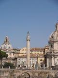 Rome Trajans kolonn Arkivfoto