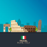 Rome. Travelling illustration. Modern flat design. Italy travel. Royalty Free Stock Photography