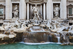 Rome Trevi Close Stock Photo