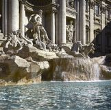 Rome, Trevi Fontein, detail stock afbeeldingen