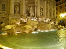 Rome - Trevi fountain Stock Photography