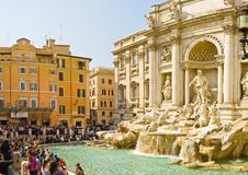 Rome Trevi Fountain Royalty Free Stock Images