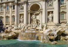 Rome Trevi Fountain Stock Photography