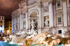 Rome Trevi Fountain Stock Photo
