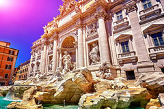 Rome Trevi Fountain, Fontana di Trevi in Rome, Italy Royalty Free Stock Images