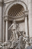 Rome trevi fountain statue of the gods. Statue of a boy on the horse on a fountain Royalty Free Stock Photography