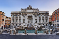 Rome Trevi Front Full Royalty Free Stock Photo