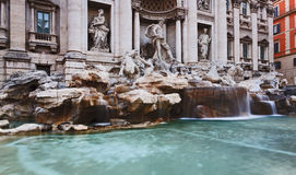 Rome Trevi Left Close Stock Photo
