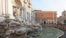 Rome Trevi-springbrunn 02 Arkivfoto