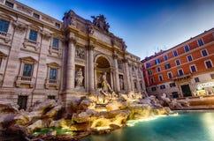 Rome Trevi-springbrunn Arkivbild