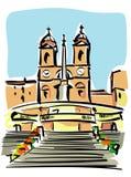 Rome (trinità dei monti) Stock Photography