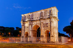 Rome. Triumphal Arch of Constantine. Night view of triumphal arch of Constantine. Rome. Italy Stock Photo